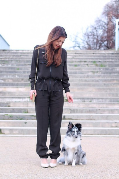 elodie in paris blogger jumpsuit