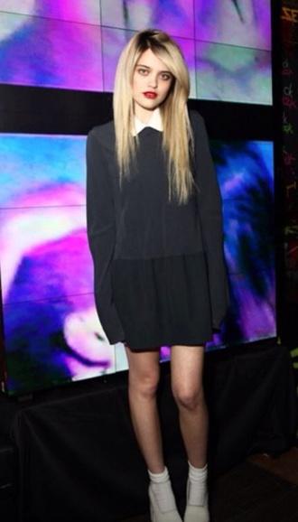 dress sky ferreira little black dress grunge