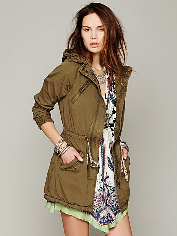 Maison scotch green parka at free people clothing boutique