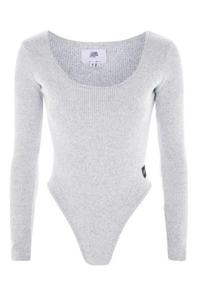 Topshop body grey underwear