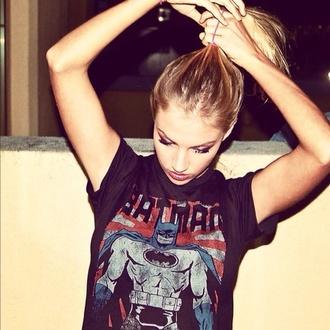 t-shirt batman graphic tee tees black t-shirt batman shirt girl shirts pretty girl