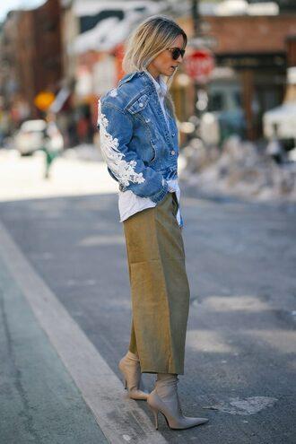 the fashion guitar blogger jacket shirt pants shoes