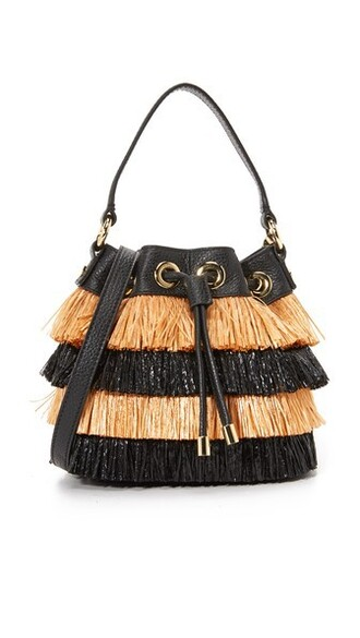 bag bucket bag black