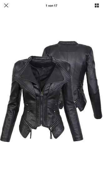 jacket black leather leather jacket black leather jacket biker jacket badass zip