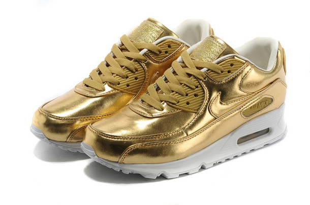 nike air max 90 gold and white prom