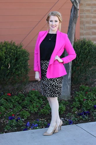 fashion flirtation blogger top jacket skirt shoes jewels dress tights