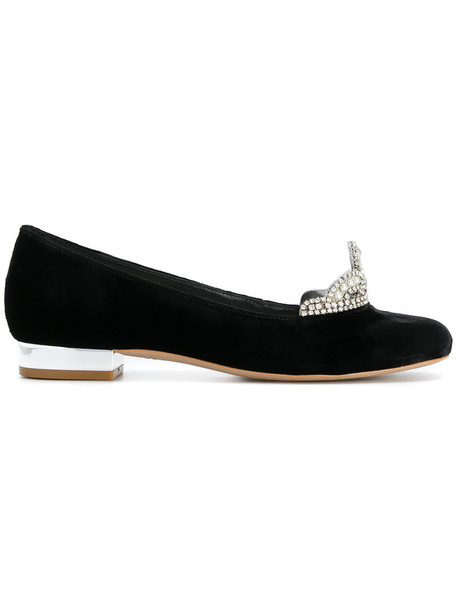 Sophia Webster women shoes leather black velvet