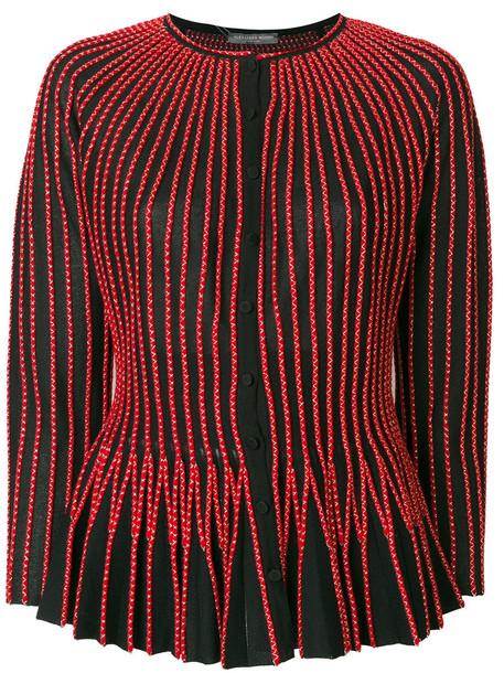 Alexander Mcqueen top women spandex silk wool red
