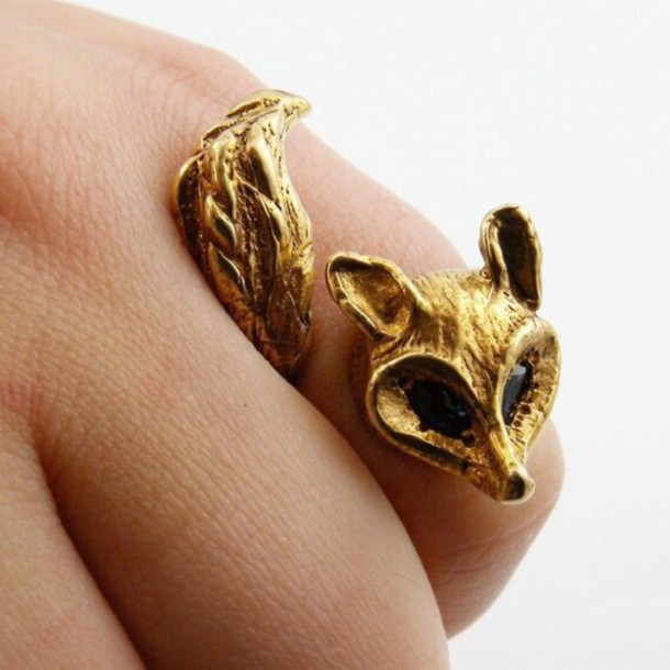 jewels gold ring fox