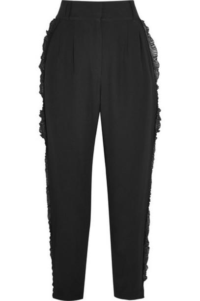 Alice McCall pants ruffle black