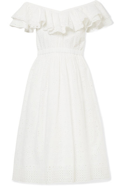 LoveShackFancy dress midi dress midi white cotton