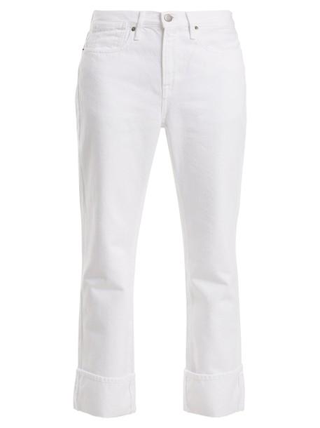 FRAME jeans oversized white