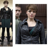 jacket,leather,biker,black,leather jacket,being human