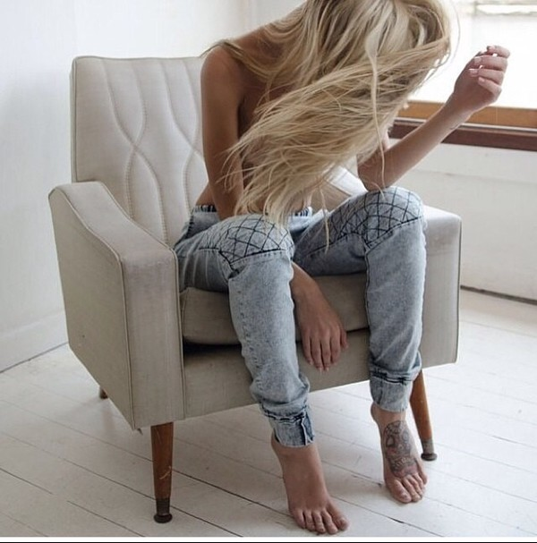jeans denim ankle cuffs light blue jeans