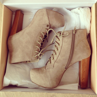 shoes high heels vintage platform high heels platform lace up boots suede boots wedges beige high heels babys heels boots heel boots brown lita shoes sand colour tan heels suede beige women womens fashion style