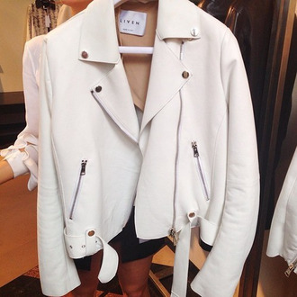 jacket white white jacket lether white leather leather jacket leather