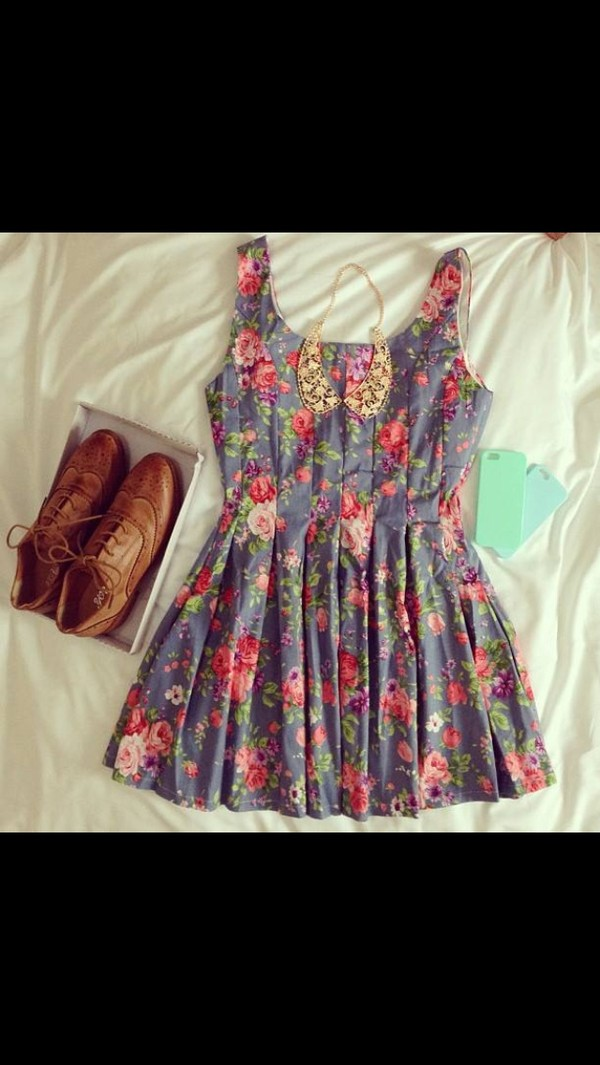 dress floral summer shoes