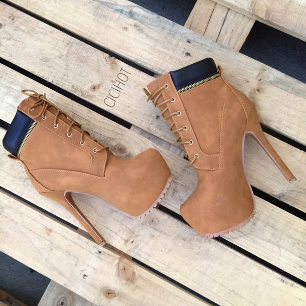 heels booties combat boots high heels boots high heel booties timberlands fall outfits fall booties fall shoes platform lace up boots