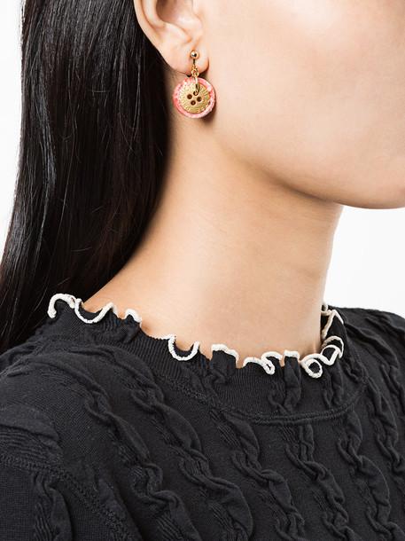 Theatre Products women earrings purple pink jewels