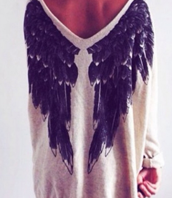 Cute hot wing sweater