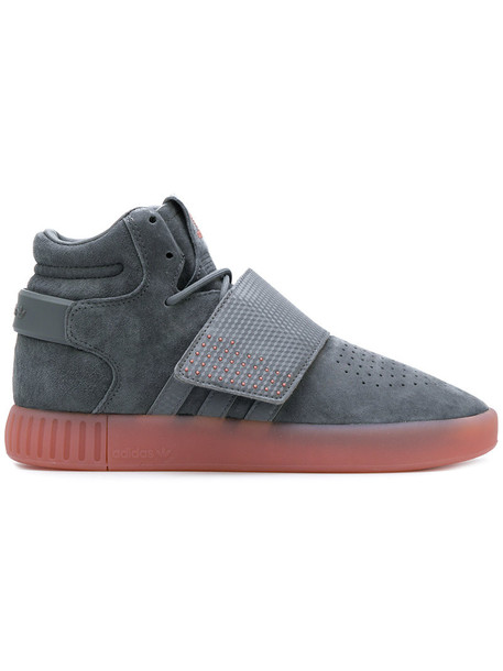 Adidas high women sneakers suede grey shoes