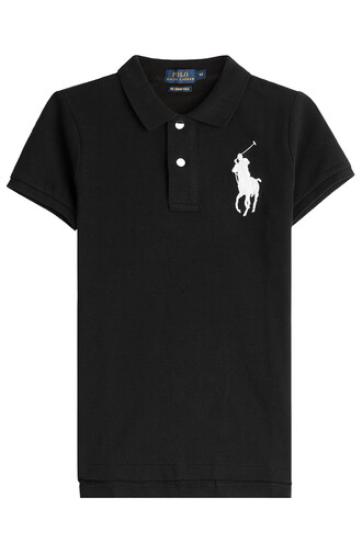 shirt polo shirt oversized cotton black top