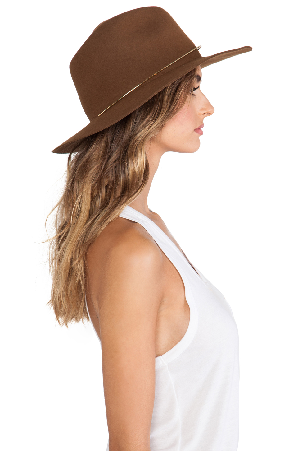 Janessa Leone Savoy Hat in Whiskey from REVOLVEclothing.com