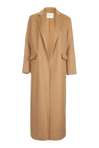 coat beige coat long coat