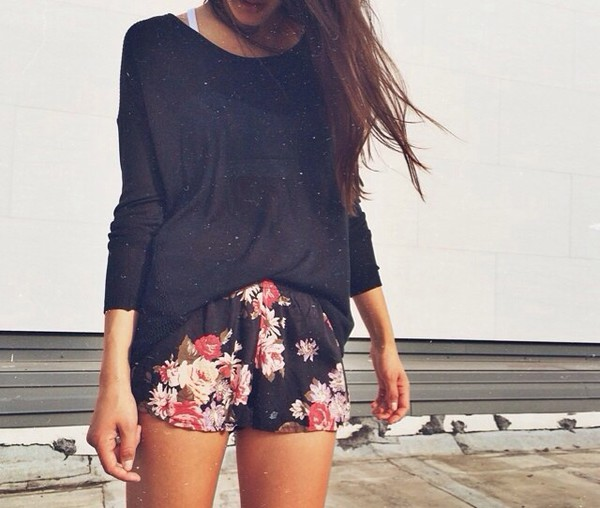 flowered shorts shirt