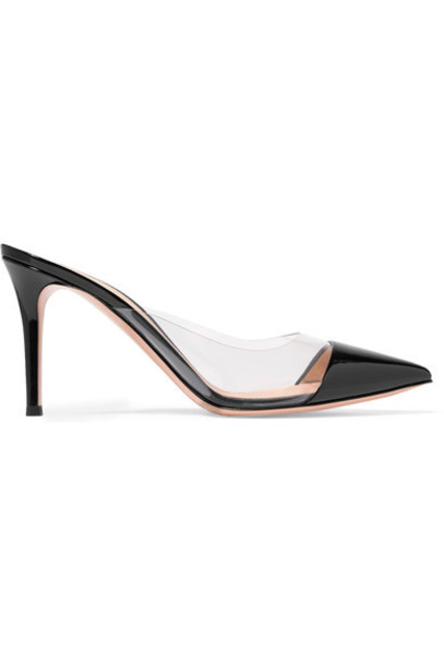 Gianvito Rossi mules leather black shoes