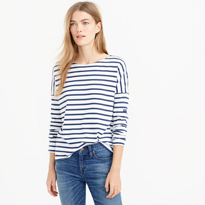 Saint james for j crew slouchy t shirt for St james striped shirt