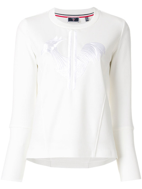 Rossignol sweater embroidered women white cotton