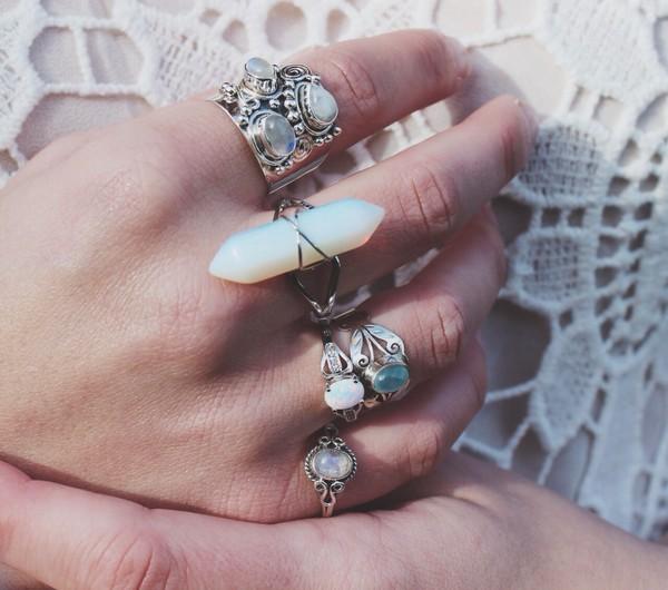 Pandora White Quartz Ring