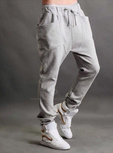 pants, grey, sweatpants, asap rocky