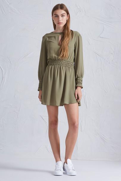 The fifth dress long sleeve dress long khaki