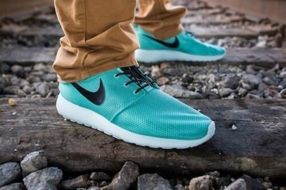 shoes nike teal nike roche run roches