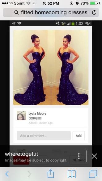 dress long dress prom dress blue dress dark blue dress fitted dress strapless dress