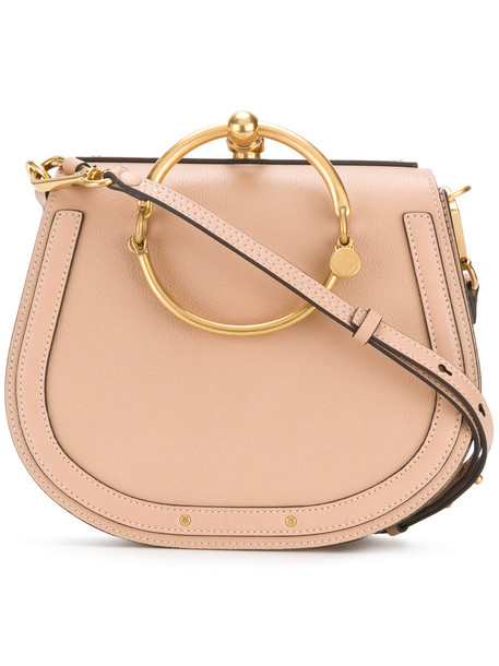 Chloe women bag leather nude suede