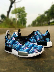 Adidas NMD Multi Color Nice Kicks Custom Runing Shoes