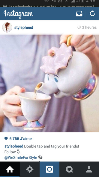 jewels white cup tea instagram fairy tale cinderella