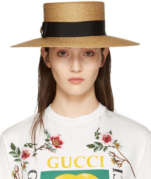 95708a4a39ef8 Gucci Gold Lurex Papier Hat - Wheretoget