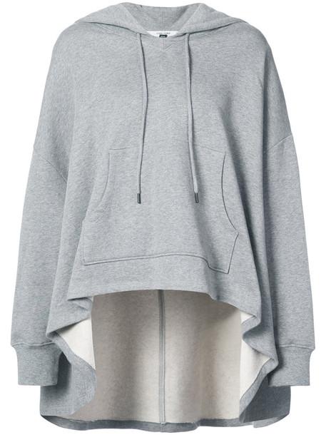 opening ceremony hoodie women cotton grey sweater