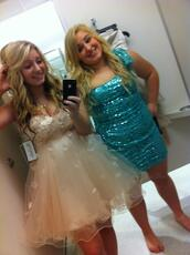 dress,blue sequin dress,white lace dress,white dress,sparkle,sparkling dress,tube dress,prom dress,prom