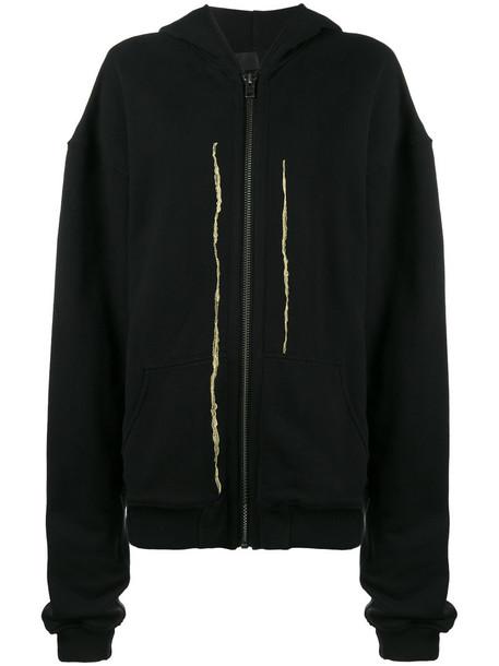 Haider Ackermann hoodie zip women spandex gold cotton black sweater