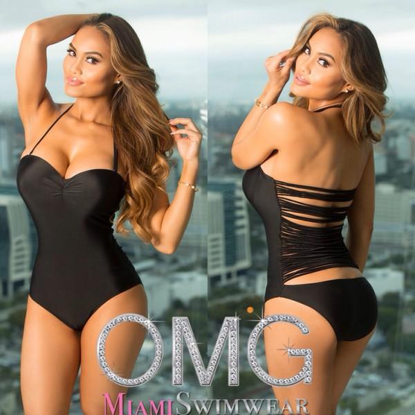 0ef0a1d7747 She's Elegant- One Piece Open Back Design Swimsuit   OMG Miami Swimwear