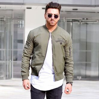 jacket maniere de voir bomber jacket khaki flight jacket flight jacket ma1 bomber kanye west tyga chris brown 36683