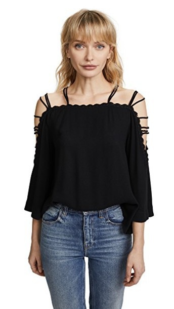 Ella Moss blouse black top