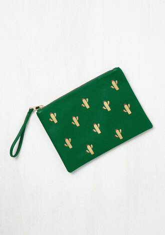 bag pouch cactus green