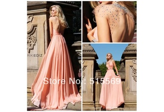 prom dress evening dress open back prom dress pink prom dress beading prom dress open back evening dresses
