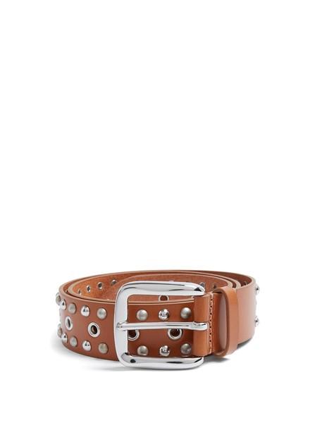 Isabel Marant embellished belt leather tan